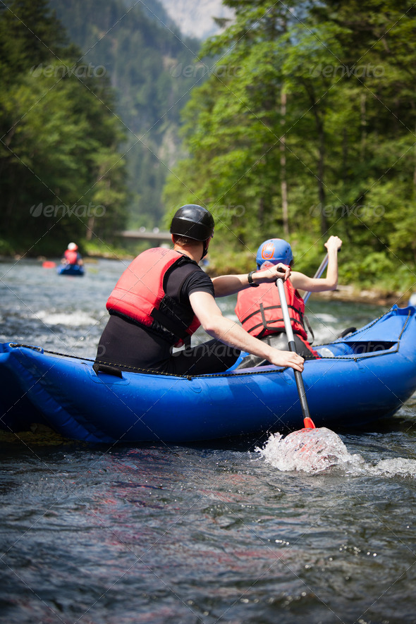 white water rafting - Stock Photo - Images