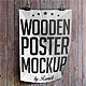 Wooden Poster Mockup - GraphicRiver Item for Sale
