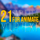 21 Simple Idea for Animate Your Text - VideoHive Item for Sale