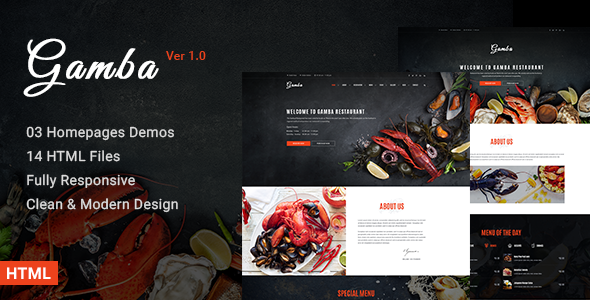 Gamba – Food & Restaurant HTML Template