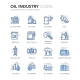 Blue Line Oil Industry Icons - GraphicRiver Item for Sale