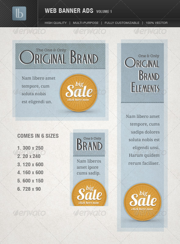 Web Banner Ads | Volume 1 - Banners & Ads Web Elements