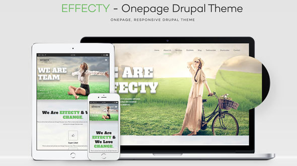 Effecty – Responsive – One Page Drupal Theme