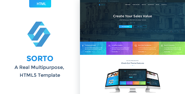 Sorto – Multipurpose HTML5 Template