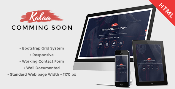 Kalaa – Coming Soon – Template (Responsive)