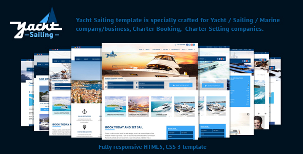 Yacht Sailing -  Marine Charter Booking Selling template