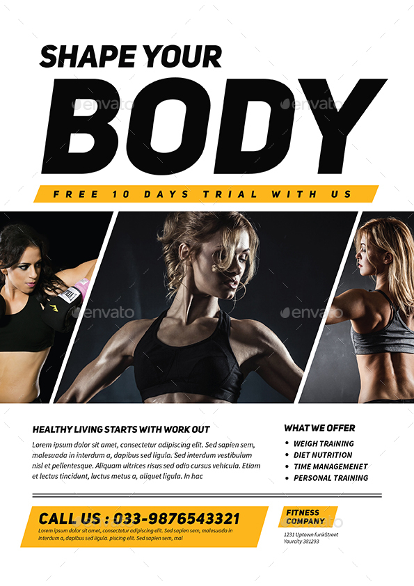 Preview Image Set/Fitness Flyer _Black ...