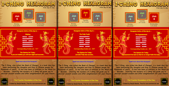 I-ching Daily Hexagram - CodeCanyon Item for Sale