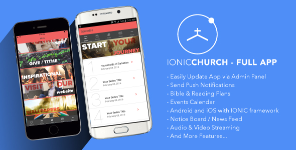 Ionic Church - Full Application - CodeCanyon Item for Sale