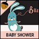 Bunny Baby Shower Invitation - GraphicRiver Item for Sale