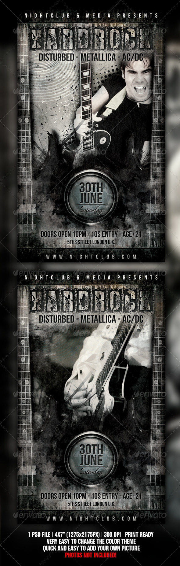 Hard Rock Flyer Design - Concerts Events