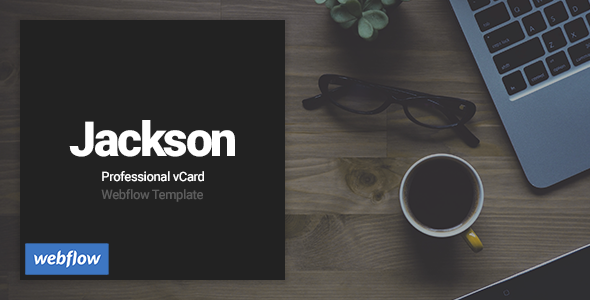 Download Jackson - Professional vCard Webflow Template nulled version