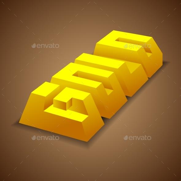 Gold Bullion Sign - Miscellaneous Vectors