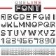 Line Font - GraphicRiver Item for Sale