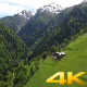 Aerial Meadow and Forest House - VideoHive Item for Sale