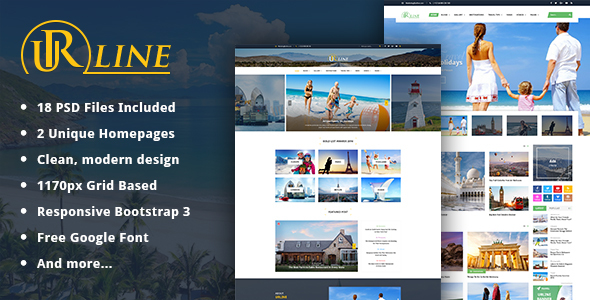 Urline - Creative Business PSD Template - Creative PSD Templates