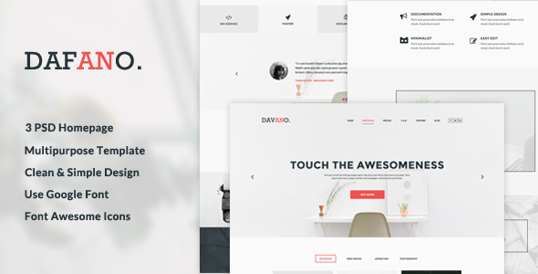 Dafano - Multipurpose Corporate PSD Template