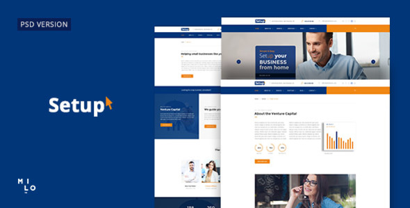 Setup - Banking and Financial Services PSD Template - Business Corporate