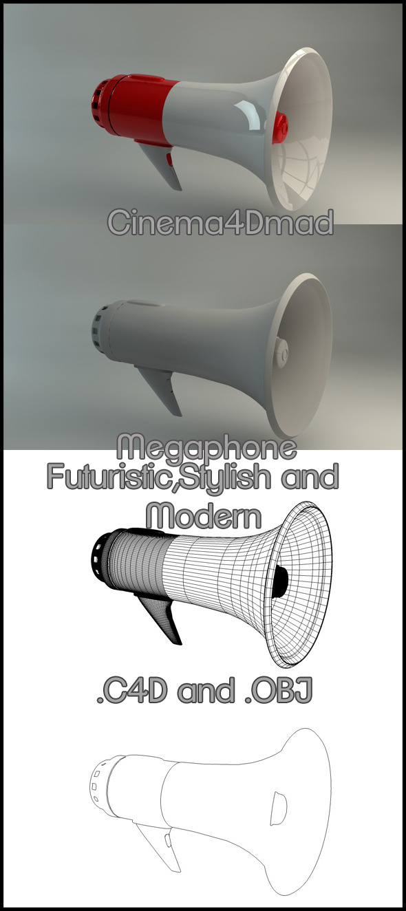 Megaphone modern - 3DOcean Item for Sale
