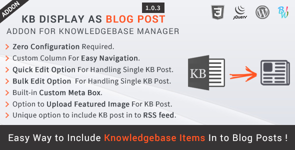 KB Display As Blog Post - Knowledge Base Addon - CodeCanyon Item for Sale