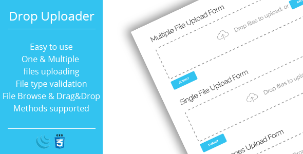 Drop Uploader - Drag&Drop Javascript File Uploader - CodeCanyon Item for Sale
