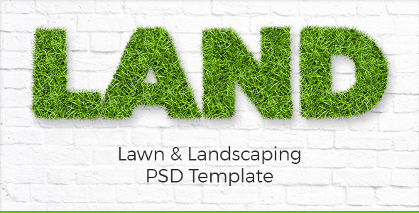 Land - Lawn & Landscaping PSD Template by wwwebinvader   ThemeForest