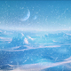 Snowy Alien Planet With Glowing Radiation - VideoHive Item for Sale