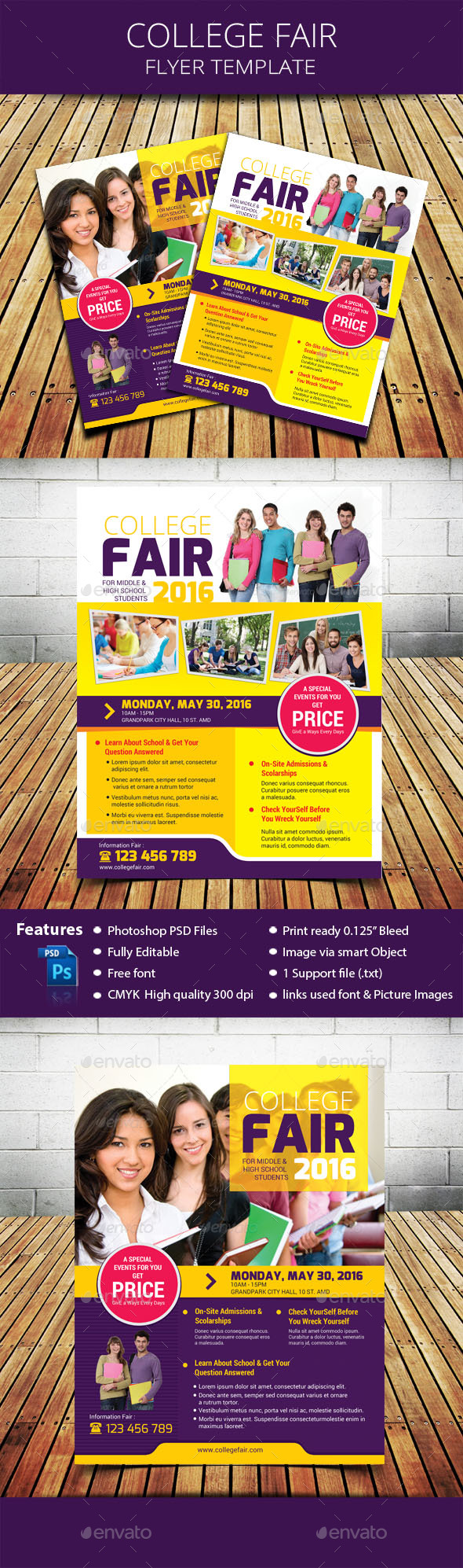 college fair flyer by tholai graphicriver