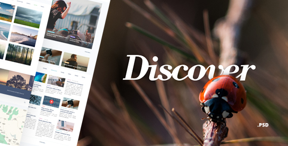 Discover – Blog & Magazine PSD Template