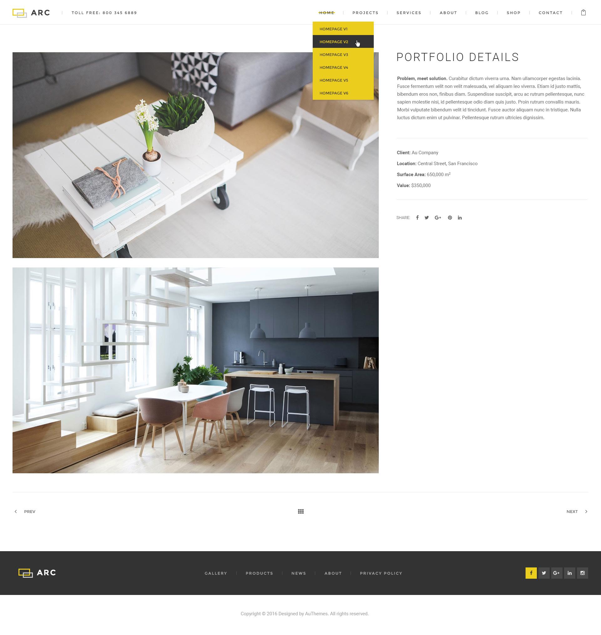 Arc Interior Design Decor Architecture Business Psd Template By