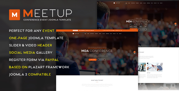 MeetUp Conference Event Joomla Template - Events Entertainment