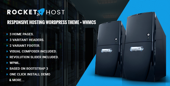 RocketHost – Responsive Hosting WordPress Theme + WHMCS