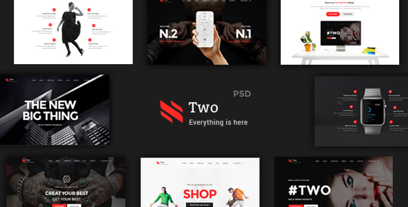 NumberTwo – Creative Multipurpose PSD Template