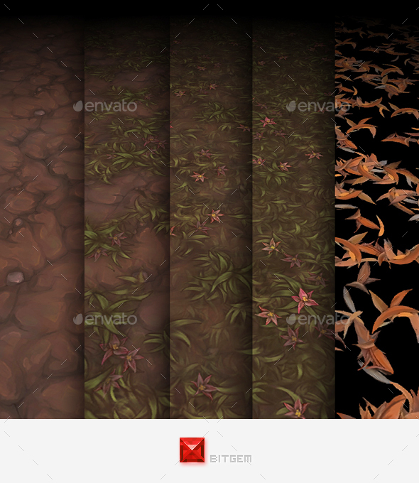 Hand Painted Texture Pack 12 - 3DOcean Item for Sale