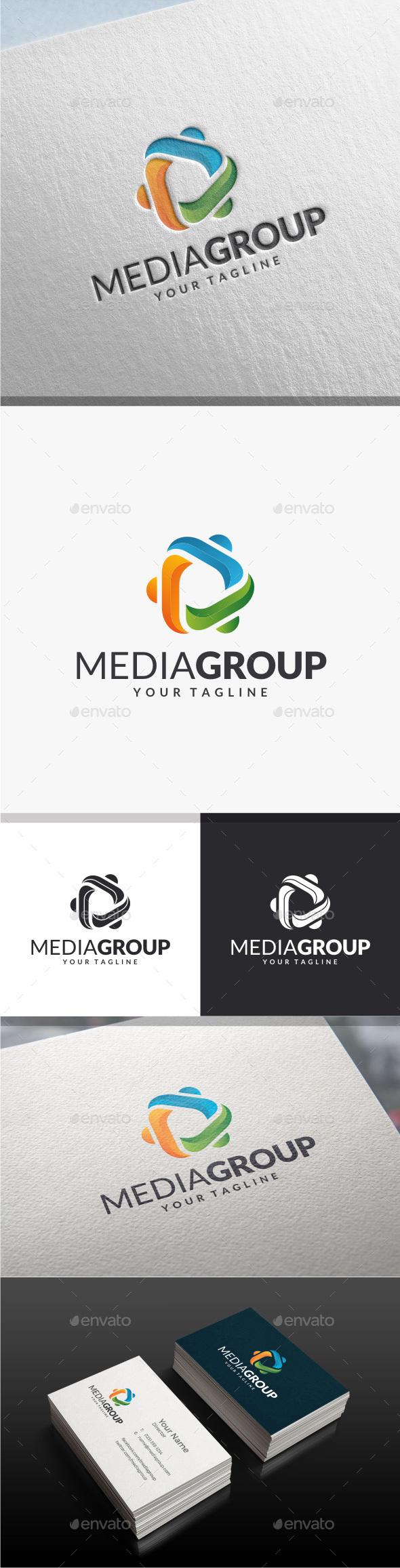 Media Group Logo - Abstract Logo Templates