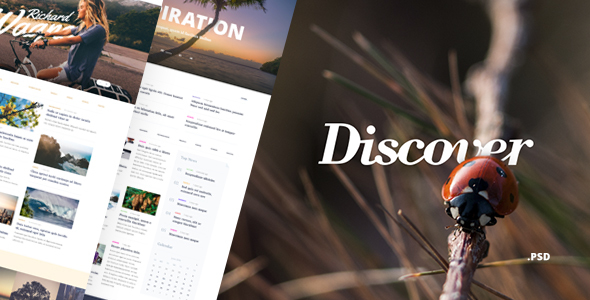 Discover – Blog & Magazine PSD Template - Personal PSD Templates