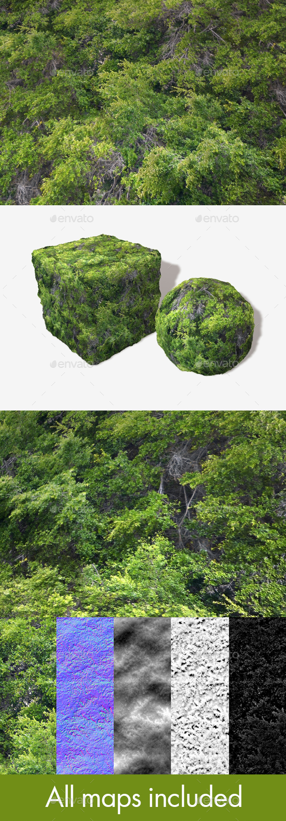 High Angle Tree Mass Seamless Texture - 3DOcean Item for Sale