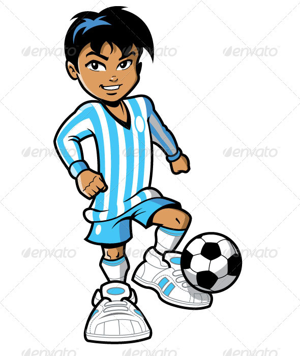 Smiling Soccer Football Player - People Characters