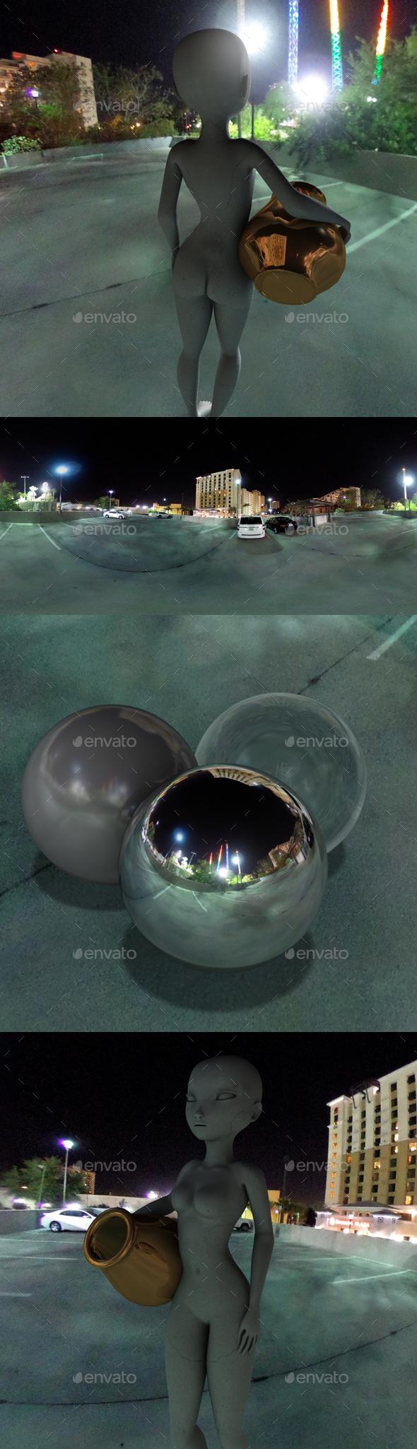 Nighttime Roof Car Park HDRI - 3DOcean Item for Sale
