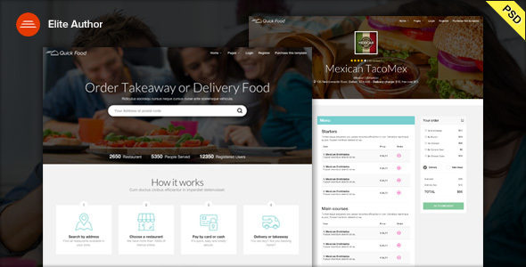 QuickFood PSD – Delivery or Takeaway Food