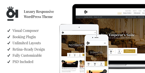 OI Hotel – Luxury Responsive WordPress Theme
