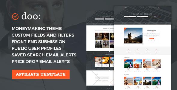 Affiliate WordPress Theme – Coupons & Discounts Marketplace – doo
