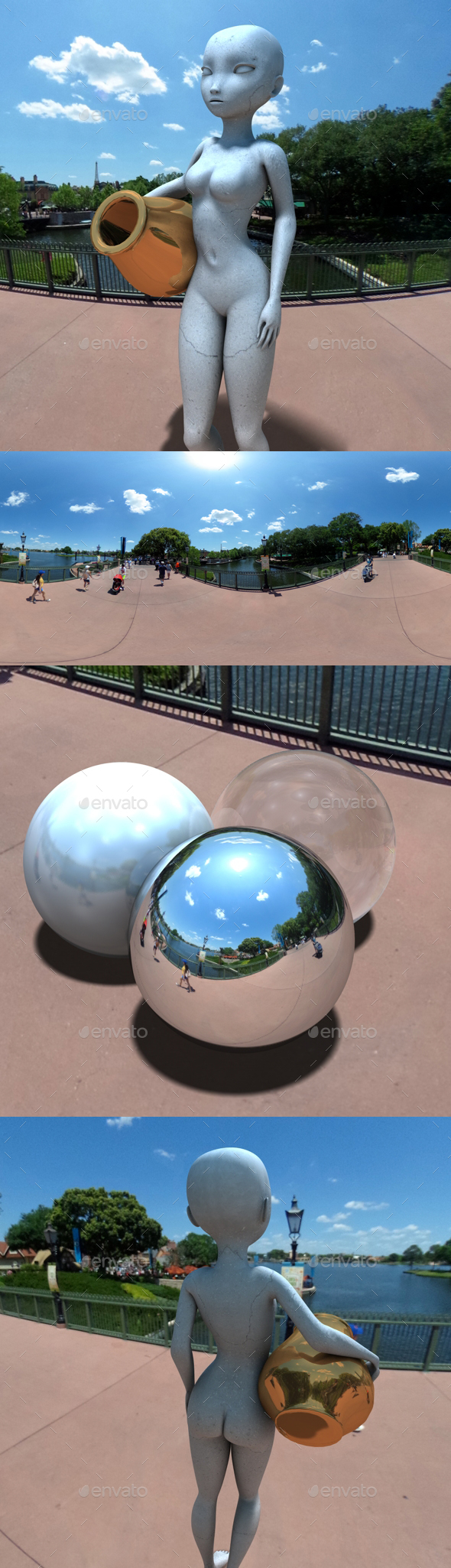 High Sun Blue Sky HDRI - 3DOcean Item for Sale