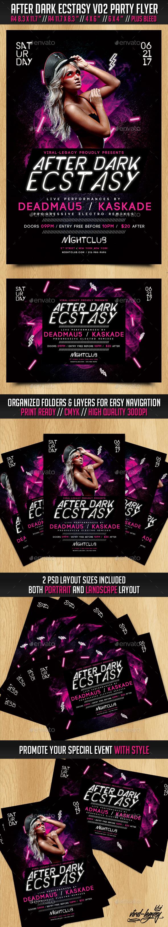 After Dark Ecstasy Volume 02 - Events Flyers