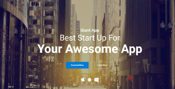 Giant App - An App Landing Template Solution - Apps Technology