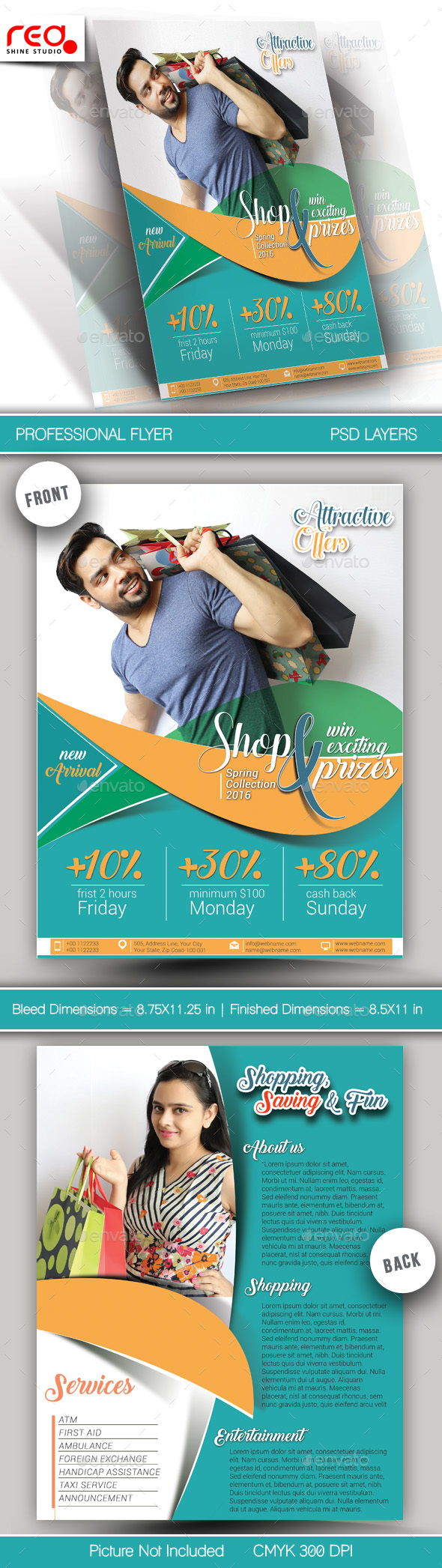 Promotion Flyer & Poster Template - Holidays Events