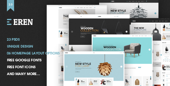 Eren - Ecommerce PSD Template - Shopping Retail