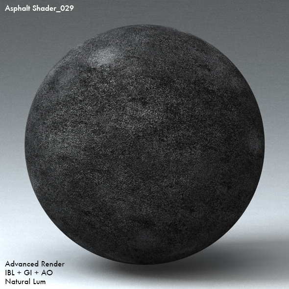 Asphalt Shader_029 - 3DOcean Item for Sale