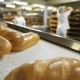 Bread On The Conveyor In The Background Of The Workers In The Bakery - VideoHive Item for Sale