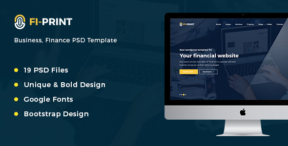 Fi-Print – Business, Finance Corporate HTML Template